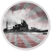 Round Beach Towel featuring the photograph I J N Takao by JC Findley