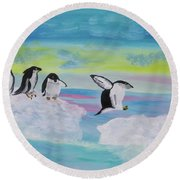I Like Dreaming Round Beach Towel by Meryl Goudey