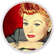 I Love Lucy Round Beach Towel