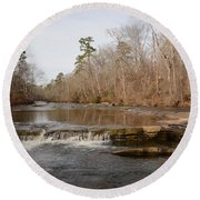 I Love To Go A Wanderin' Yellow River Park -georgia Round Beach Towel