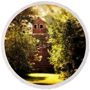 Round Beach Towel featuring the photograph I See You by Julie Hamilton