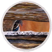 I See You Round Beach Towel by Marilyn McNish