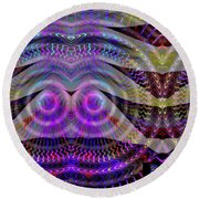 Round Beach Towel featuring the digital art I See You by Visual Artist Frank Bonilla