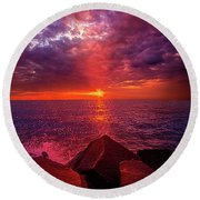 Round Beach Towel featuring the photograph I Still Believe In What Could Be by Phil Koch