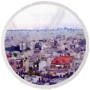 Round Beach Towel featuring the photograph I Still Have Paris by Susan Maxwell Schmidt