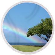 I Want To Be There Round Beach Towel by Brian Harig