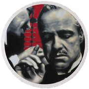 I Want You To Kill Him 2013 Round Beach Towel by Luis Ludzska