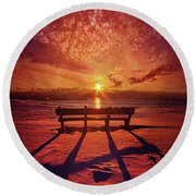 I Will Always Be With You Round Beach Towel