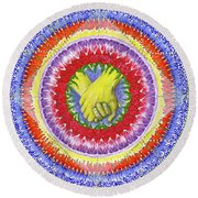Round Beach Towel featuring the painting I Will Have You And You Will Have Me #1 by Kym Nicolas
