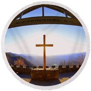 I Will Lift My Eyes To The Hills Psalm 121 1 Round Beach Towel