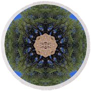 I Will Survive Tree Kaleidoscope Round Beach Towel