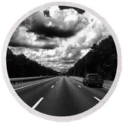 I95 Clouds Round Beach Towel