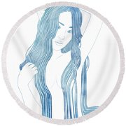Ianeria Round Beach Towel