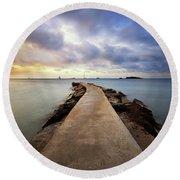 Ibiza Summer Mix 6.0 Round Beach Towel by Yhun Suarez
