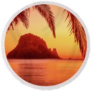 Ibiza Sunset Round Beach Towel by Iryna Goodall