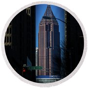 Ibm Tower Round Beach Towel