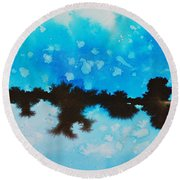 Ice And Snow Round Beach Towel