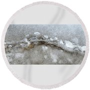 Ice And The Beach Four  Round Beach Towel