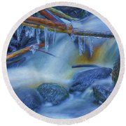Ice And Water 2 Round Beach Towel