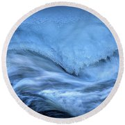 Ice And Water 5 Round Beach Towel
