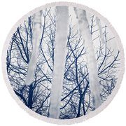 Round Beach Towel featuring the photograph Ice Bars by Robert Knight