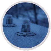 Ice Bolts Round Beach Towel