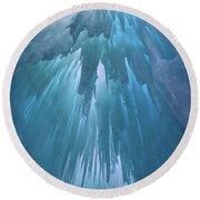 Ice Cavern Round Beach Towel