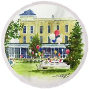 Ice Cream Social And Strawberry Festival, Lakeside, Oh Round Beach Towel