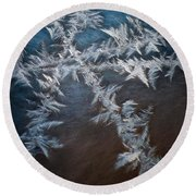Ice Crossing Round Beach Towel