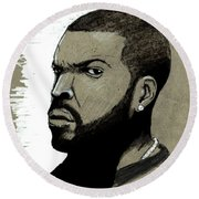 Ice Cube Round Beach Towel