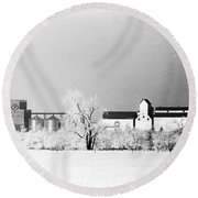 Ice Farm Round Beach Towel