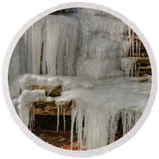 Ice Flow Round Beach Towel
