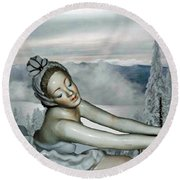 Ice Princess Round Beach Towel