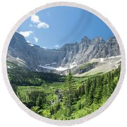 Iceberg Lake Trail - Glacier National Park Round Beach Towel