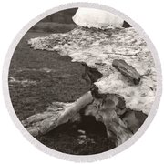 Iceberg Silo Round Beach Towel by Heather Kirk