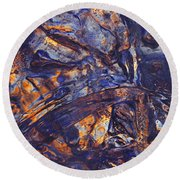 Round Beach Towel featuring the photograph Icebow by Sami Tiainen