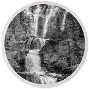 Icefields Waterfall Round Beach Towel
