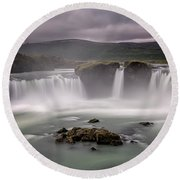 Iceland Waterfall Round Beach Towel