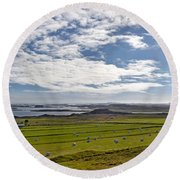Icelandic Panorama Round Beach Towel by Joe Bonita