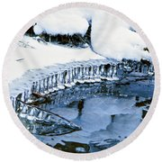 Icicle Bells Round Beach Towel