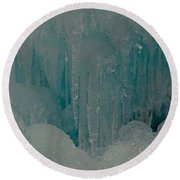 Icicle Blue Beauty Round Beach Towel