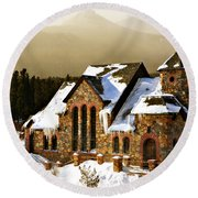 Icicles Round Beach Towel by Marilyn Hunt