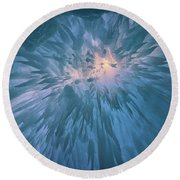 Round Beach Towel featuring the photograph Icicles by Rick Berk