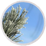 Round Beach Towel featuring the photograph Icing On The Needles by Michal Boubin