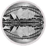 Iconic Reflections Round Beach Towel