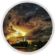 Ict Storm - From Smrt-phn Round Beach Towel