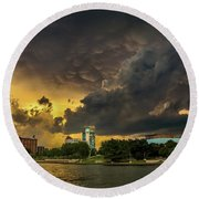 ict Storm - High Res Round Beach Towel