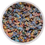 Icy Abstract 1 Round Beach Towel