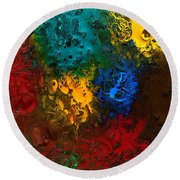 Icy Abstract 10 Round Beach Towel