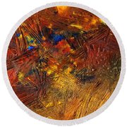 Icy Abstract 11 Round Beach Towel